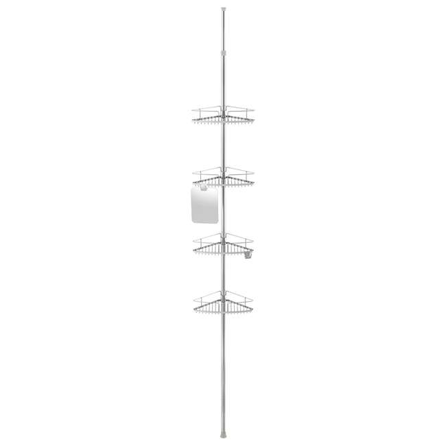13406 Better Living Fineline 4-Tier Stainless Steel Shower Storage Caddy with Mirror 1