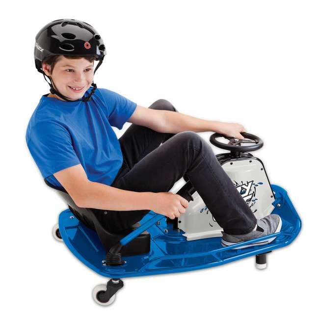 25143442 Razor Adult Electric High Torque Motorized Drifting Crazy Cart, Blue (2 Pack) 5