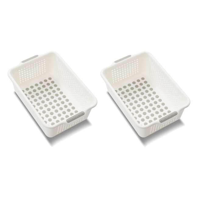 20901 Madesmart Small Kitchen Drawer Storage Basket (2 Pack)