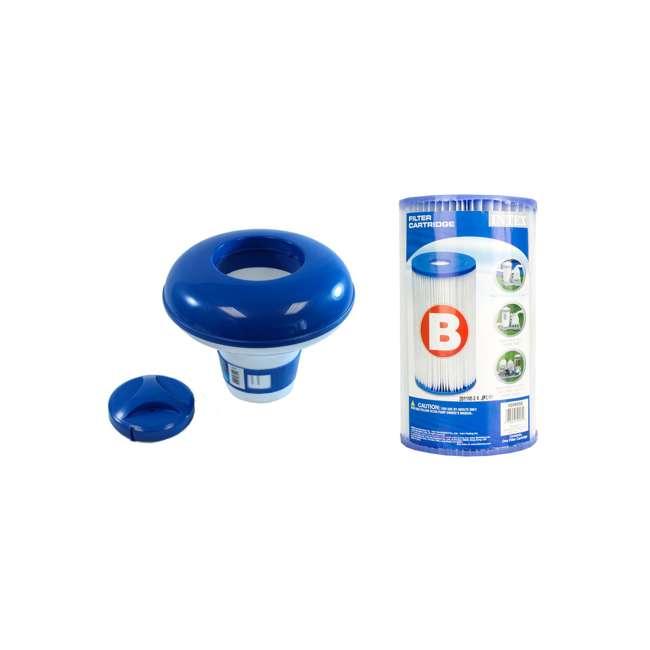 8720 + 3 x 29005E Hydrotools Chlorine Dispenser & Filter Pump (3 Pack)