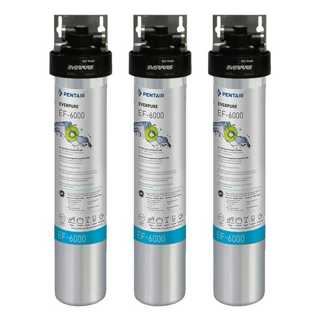 3 x EV985500 Full Flow Drinking Water Filter System for Home Faucets (3 Pack)