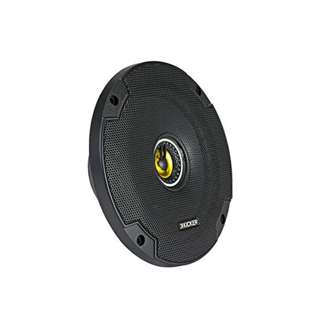 46CSC654 Kicker CS Series CSC65 6.5 Inch Car Audio Speaker with Woofers, Yellow (4 Pack) 4