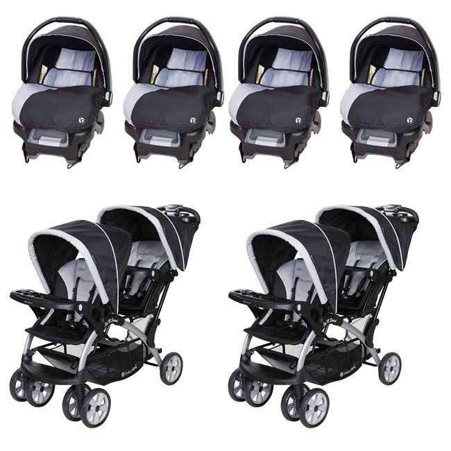 Baby Trend Car Seat 4 Pack Sit N Stand Double Stroller 2 Pack