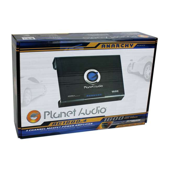 AC16004 PLANET AUDIO AC1600.4 1600W 4 Channel Amplifier With Remote 6