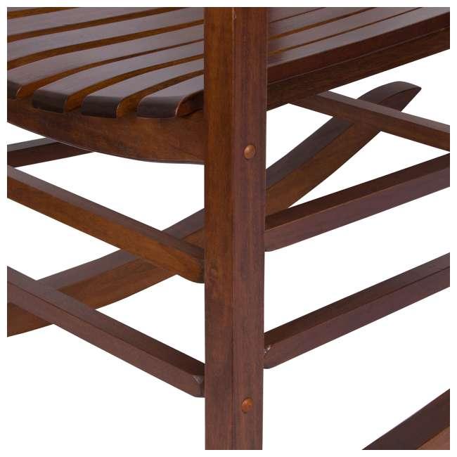 SHN-4332OA Shine Company Vermont Hardwood Outdoor Porch Patio Furniture Rocker Chair, Oak 6