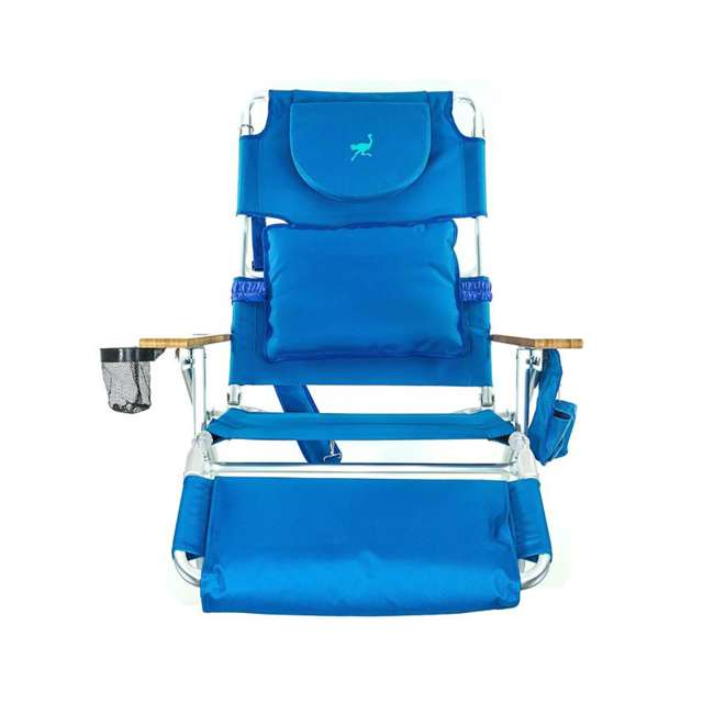 D3N1-1001B Ostrich Deluxe Padded 3-N-1 Lounge Beach Chair 1