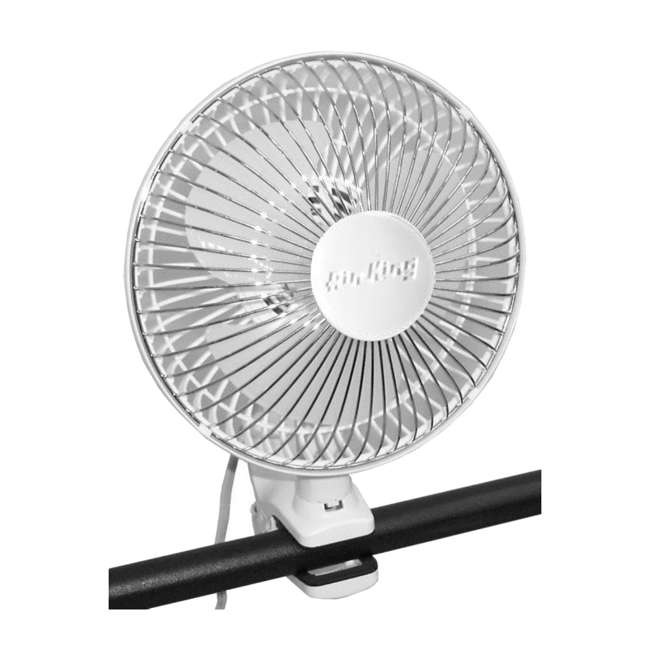 AK-9145-U-A Air King 6 Inch Commercial 120V Personal Clip On Fan Air | 9145 (Open Box) 3