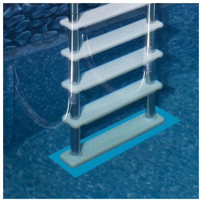 87950 + 87953 Swimline 48 Inch Pool Ladder with 9x36-Inch Vinyl Protective Pool Ladder Mat 8