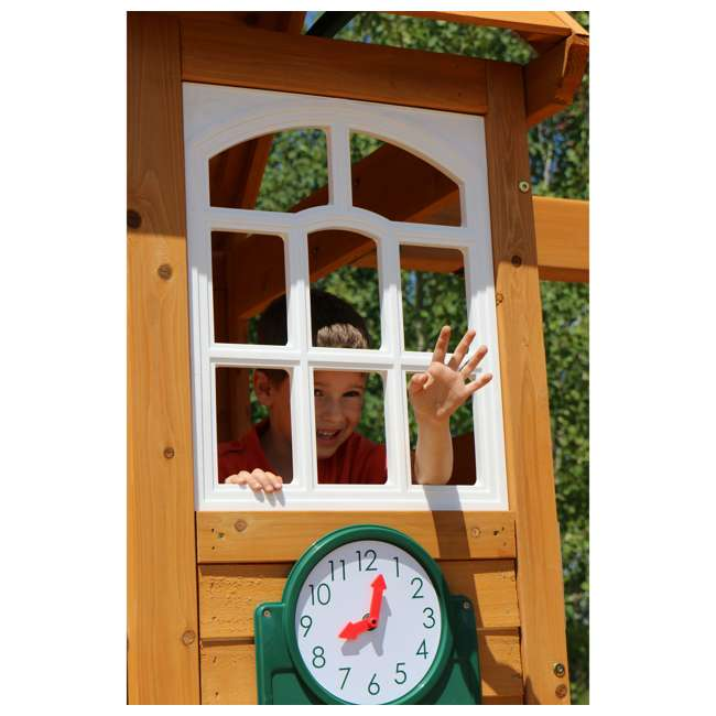 F24953 KidKraft F24953 Creston Lodge Kids Wooden Outdoor Playset 7