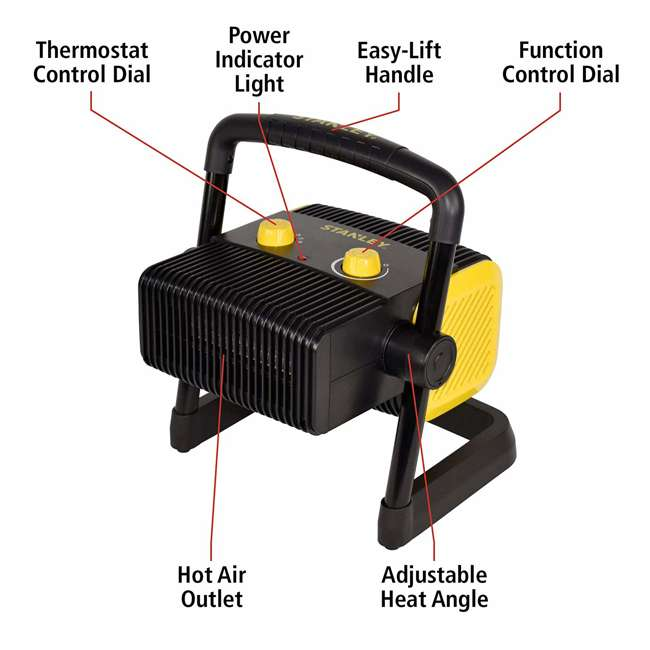 ST-300A-120 Stanley ST-300A-120 Heavy Duty 1500W Portable Forced Air Electric Heater, Black 4
