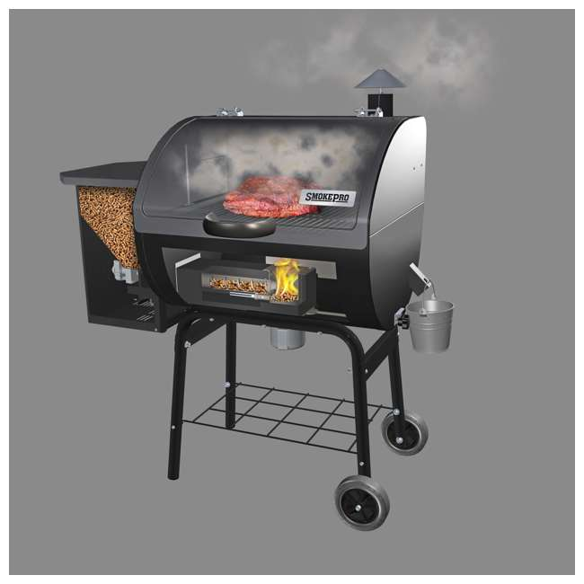 PG24STX Camp Chef SmokePro STX Wood Pellet BBQ Grill and Smoker, Black | (Open Box) 1