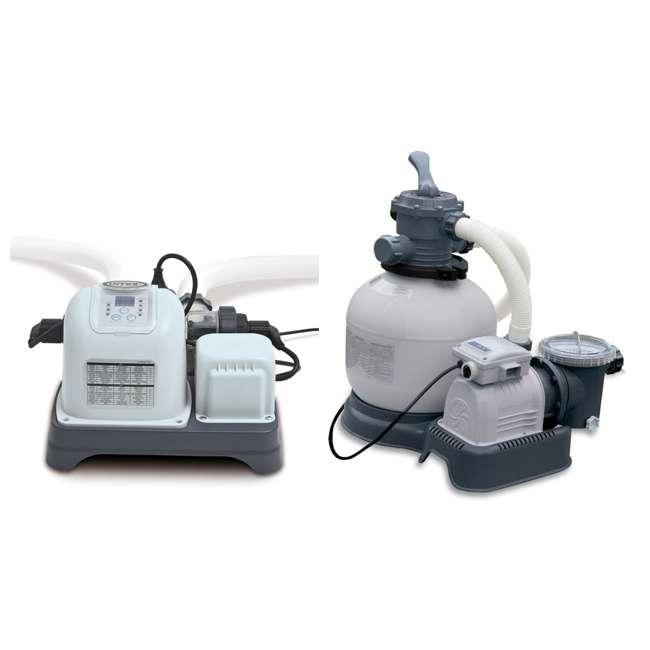 intex krystal clear 2800 gph sand filter pump and saltwater chlorination 28647eg 28667eg. Black Bedroom Furniture Sets. Home Design Ideas