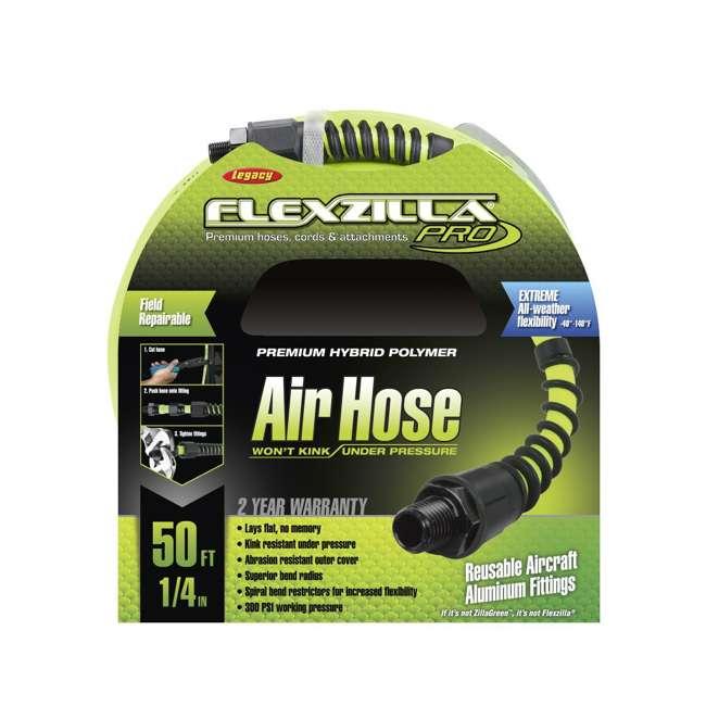 LEG-HFZP1450YW2 Flexzilla Heavy Duty Pro Air Hose, 1/4 Inch x 50 Feet