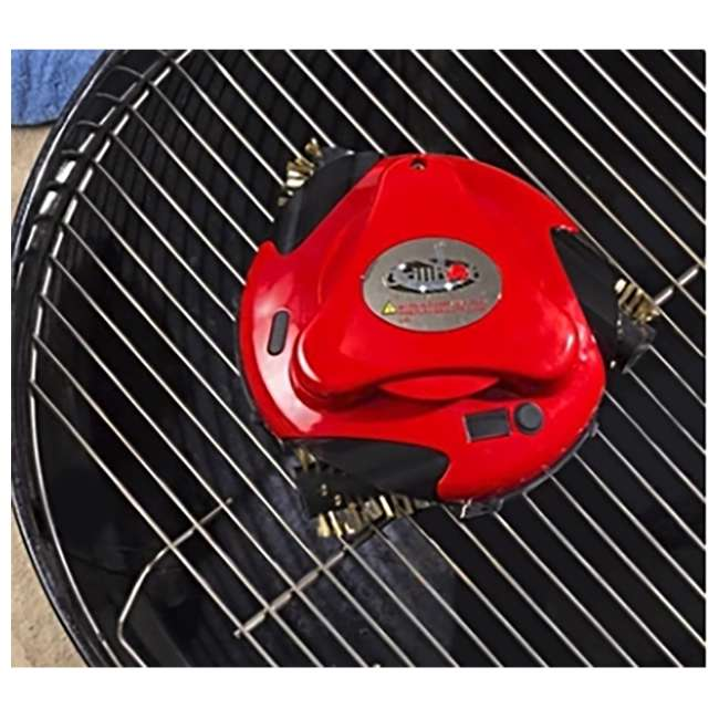 GBU:BUN3:RED Grillbot BUN3:RED Automatic Outdoor Grill Cleaning Robot with Carry Case, Red 3