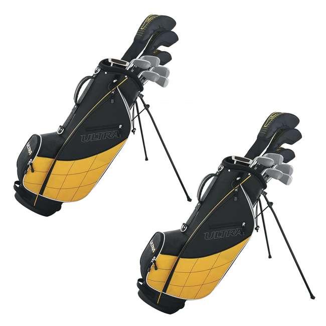 WGGC4300L Wilson Ultra Men's Left Handed Complete Golf Club Set (2 Pack)