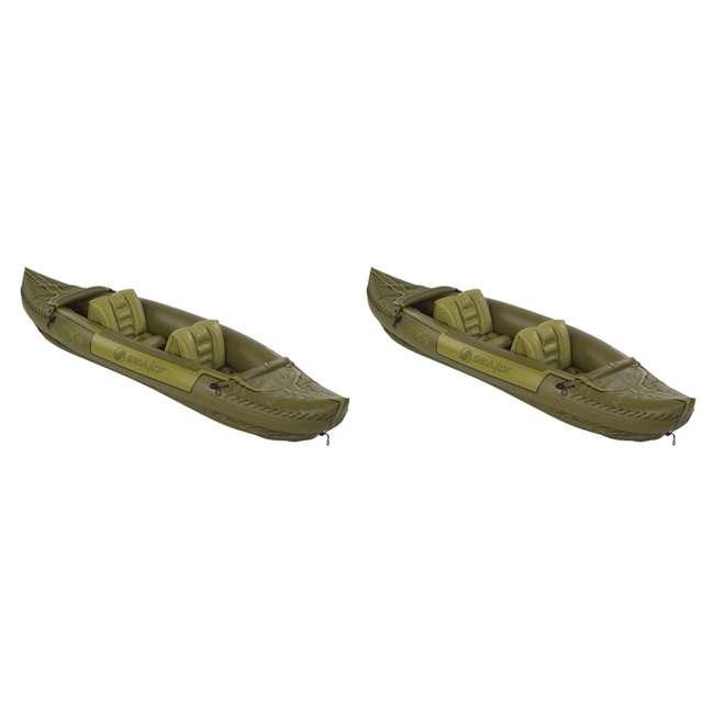 2000010629 Sevylor Tahiti Two-Person Hunting Fishing Inflatable Kayak Boat Rafts (Pair)