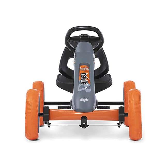 24.60.01.00 BERG Reppy Racer Kids Pedal Go Kart Ride On Toy w/ Axle Steering, Gray & Orange 1