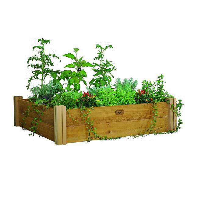 MRGB-2L 48-48 Gronomics Red Cedar Modular Raised Garden Bed 48 x 48 x 13 Inches, Unfinished