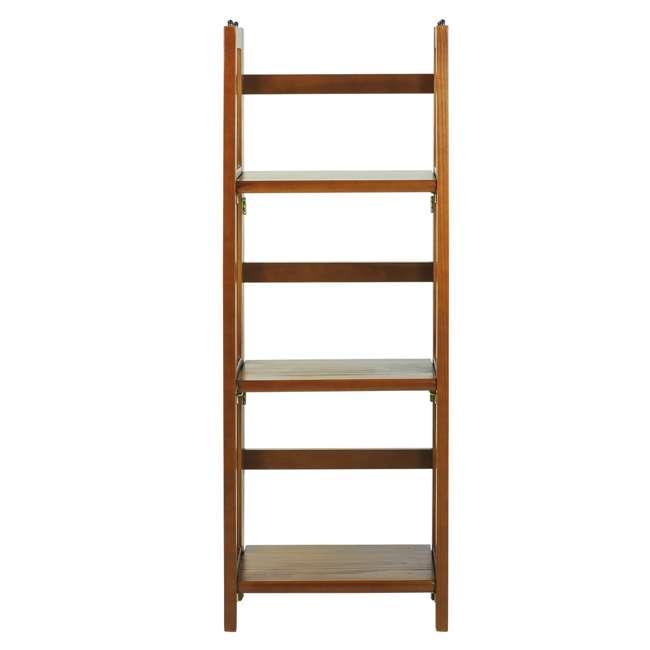 331-35 Casual Home 3 Shelf 14 Inch Folding Office Wood Furniture Bookcase, Honey Oak 4