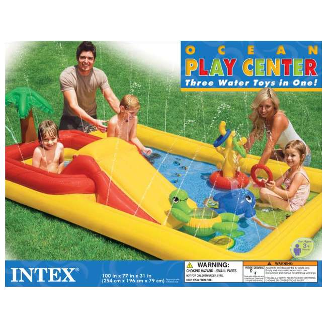 4 x 57454EP-U-A Intex Ocean Play Center Kids Inflatable Wading Pool - 57454EP (Open Box)(4 Pack) 4