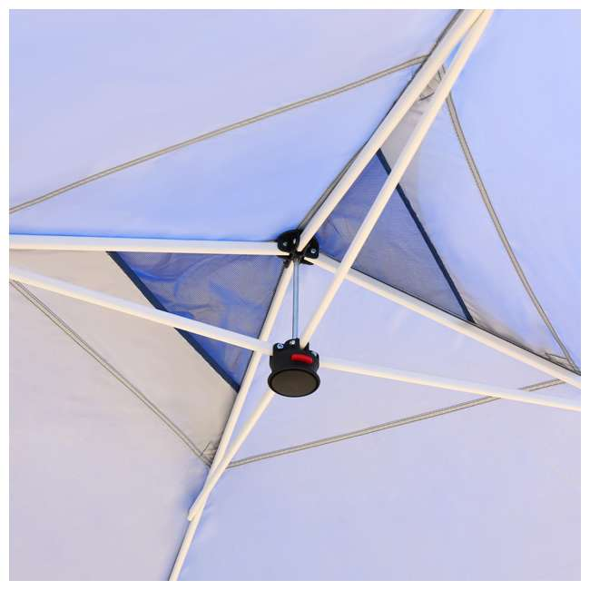 CS-C1010BU Crown Shades 10 x 10 Feet Slant Leg Rust Resistant Sun Protected Canopy, Blue 1
