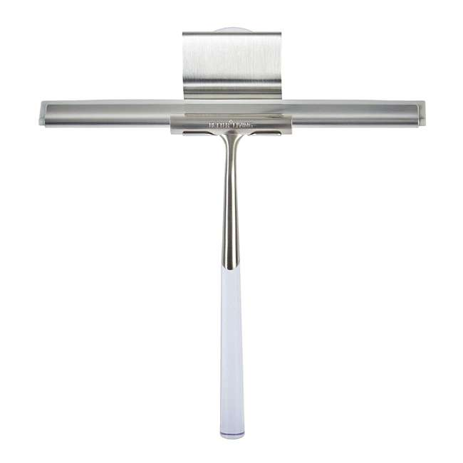 18099 Better Living Linea Rust Proof Stainless Steel Shower Squeegee with Suction Hook