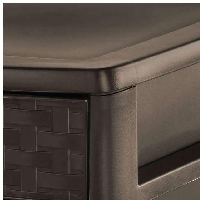 8 x 23436P04-U-A Sterilite Medium Weave Craft 3 Drawer Storage Organizer, Brown(Open Box)(8 Pack) 2