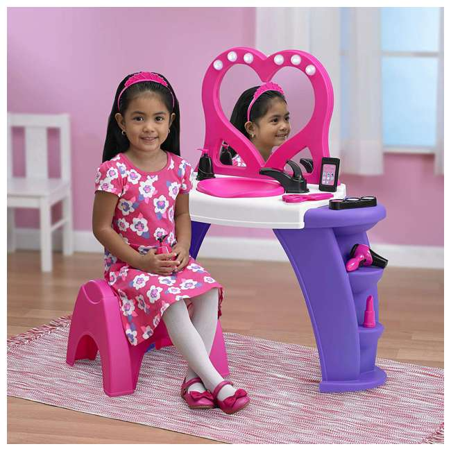 APT-25000 American Plastic Toys Kids Pink First Very Own Deluxe Beauty Salon Role Playset 2