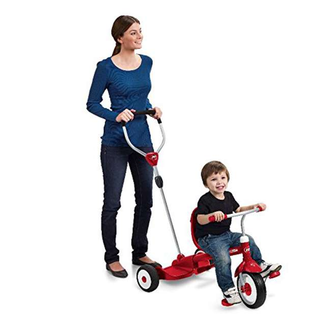 499 Radio Flyer 499 Kids' Toddlers Ride and Stand Stroll 'N Trike, Red 3