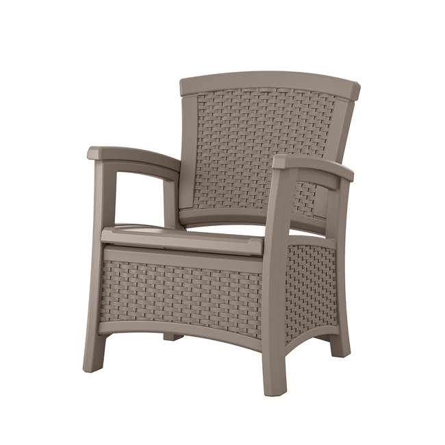 BMCC1800DT Suncast BMCC1800DT Elements Wicker Design Club Chair with Storage (2 Pack) 1