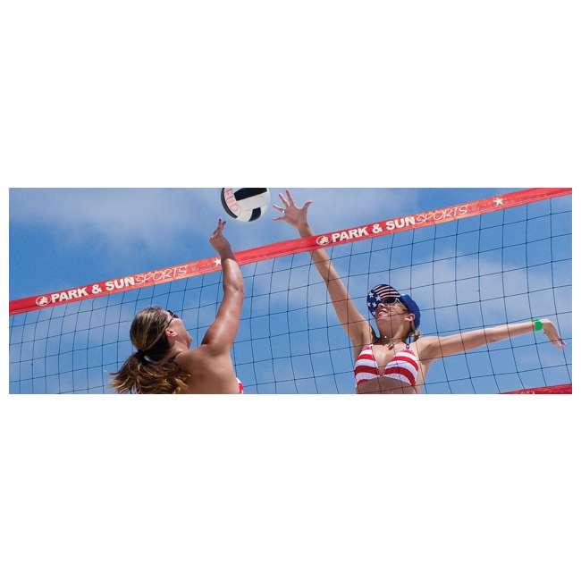 V-SPORT II/RD-U-A Park & Sun Volley Sport Steel Outdoor Volleyball Net Set (Open Box) 5
