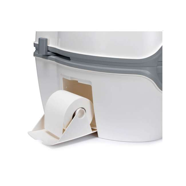 92306 Thetford 565E Porta Potti Portable Battery Powered Flush Travel Toilet, White 4