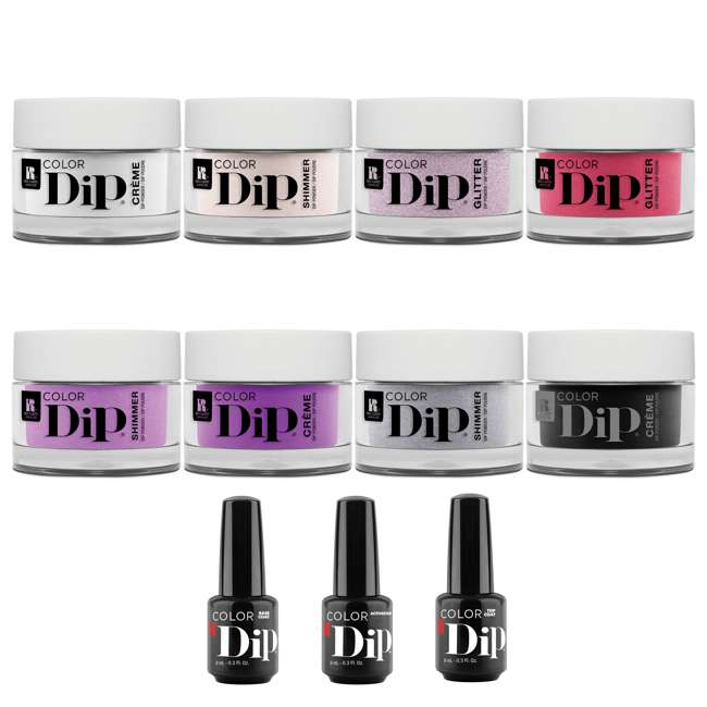 1900213-RCMDIP8PACK Red Carpet Manicure Nail Color Dip Dipping Powder Whole Essentials Kit, 8 Colors