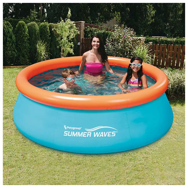 Summer waves 8 foot inflatable kids pool p10008303167 - Summer waves pool ...