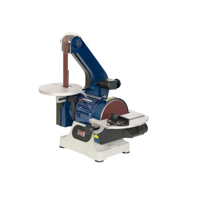 50-151 RIKON 50-151 Cast Metal Tabletop 1 x 30 Inch Belt and 5 Inch Disc Sander, Blue