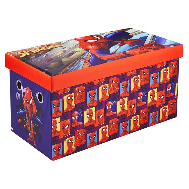 520021-001 Fresh Home Elements 30-Inch Licensed Folding Super Toy Chest & Bench, Spider-Man