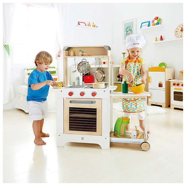 HAP-E3126 Hape Cook 'N Serve Kids Contemporary Pretend Play Wooden Kitchen 4