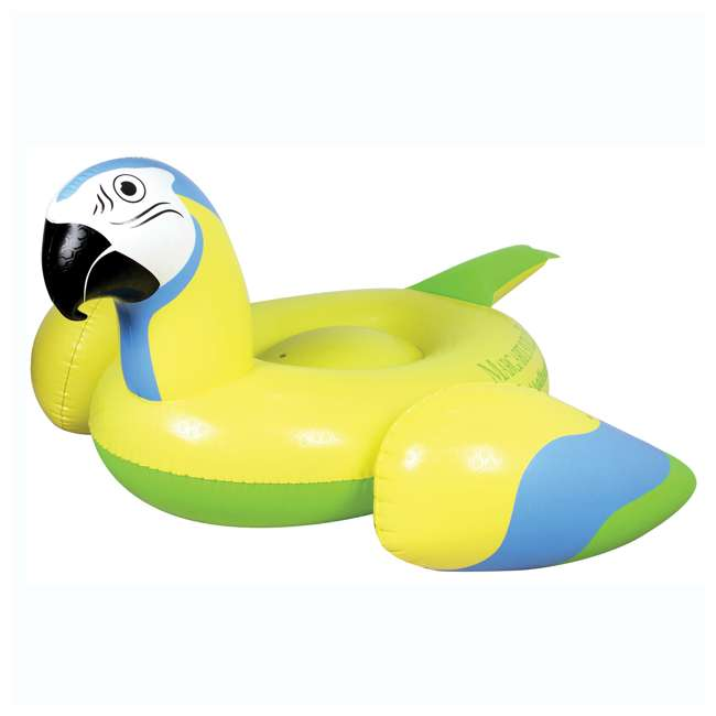 2183246-MW Margaritaville Rideable Parrot Inflatable Float, Yellow (2 Pack) 1