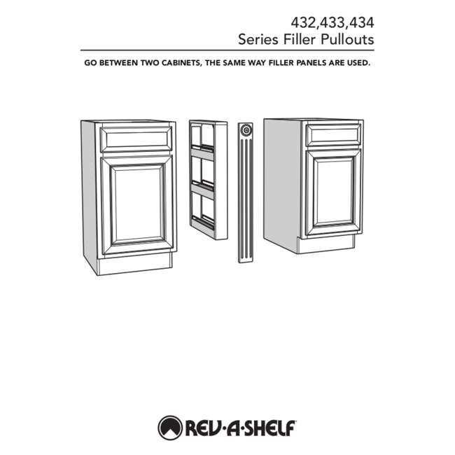 432-WF-3C-30 Rev-A-Shelf 432-WF-3C 3 x 30 Inch Pull Out Between Cabinet Wall Filler Organizer 3