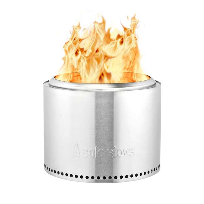 SSBON Solo Stove Outdoor Campsite Doubled Walled Stainless Steel Portable Bonfire