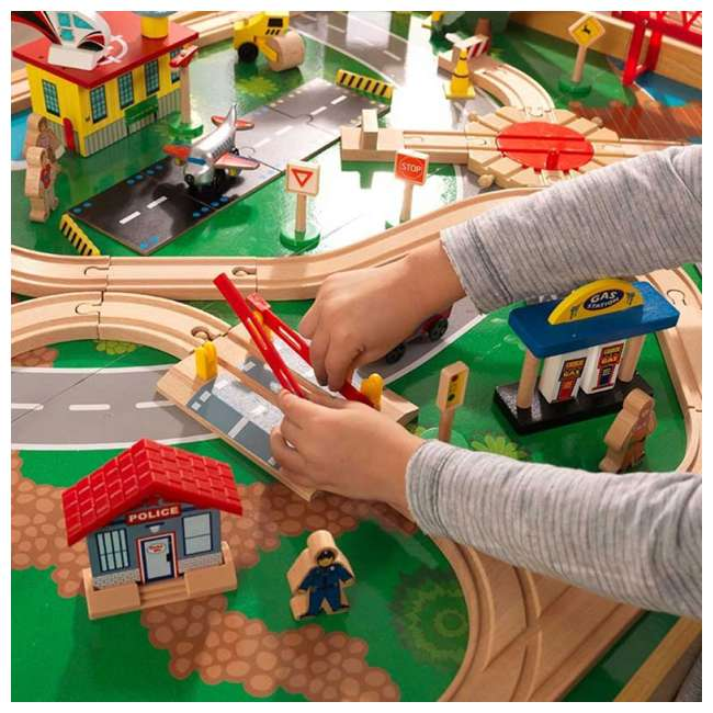 KDK-18025-U-A KidKraft Adventure Town Railway Play Set & Table w/ EZ Kraft Assembly (Open Box) 3