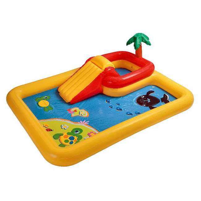 57454EP-U-B Intex Ocean Play Center Kids Inflatable Wading Pool - Used