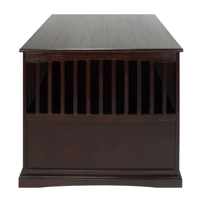 600-84 Casual Home Extra Large Pet Crate End Table, Espresso 2