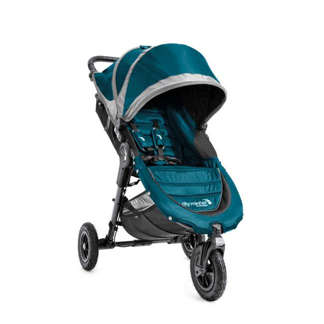 1959401 Baby Jogger City Mini GT Folding Travel Stroller, Teal/Gray