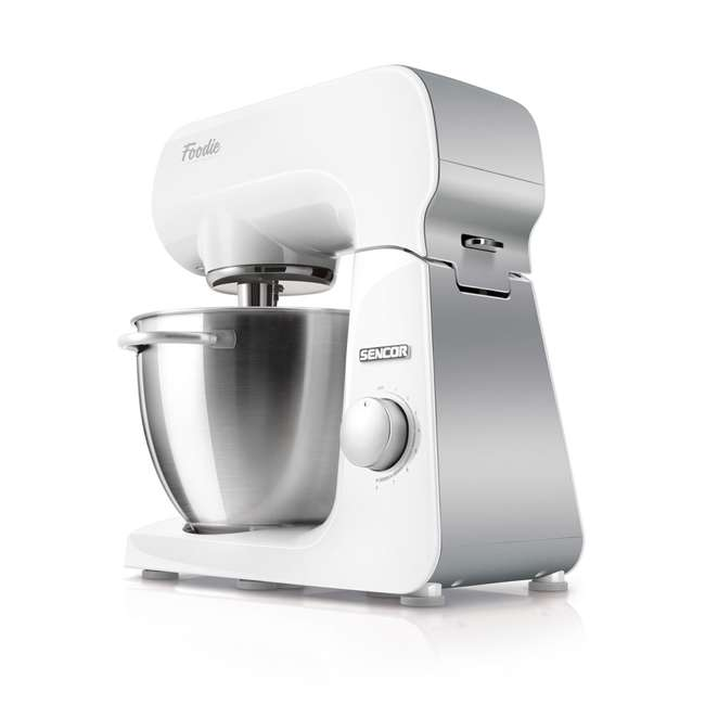 STM40WH-NAB1 Sencor STM40WH 8 Speed 4.7 Quart Stand Mixer with Beater and Dough Hook, White