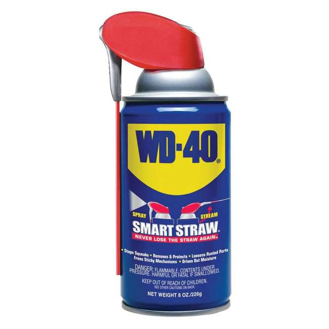 WD-490027 WD-40 Multi Use Product Multi Surface Spray Lubricant with Smart Straw, 8 Ounce