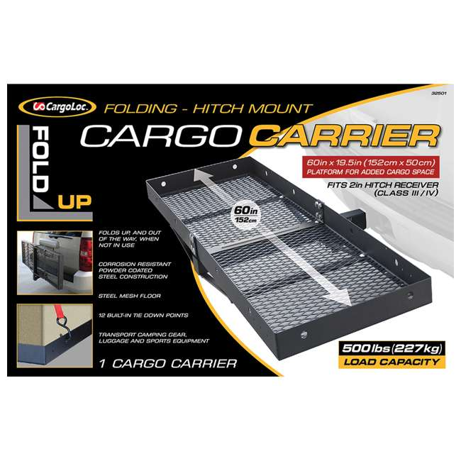 CARGO-32501 CargoLoc 32501 Hitch Mount for Receiver Class III & IV
