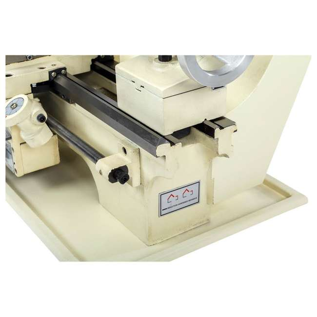 M1049 Shop Fox M1049 9 by 19 Inch Bench Top Metal Lathe with Three Jaw Scroll Chuck 8