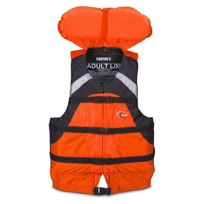 MTI-907D-0E034 MTI Life Jackets Canyon V Adult S/M Life Vest, Orange