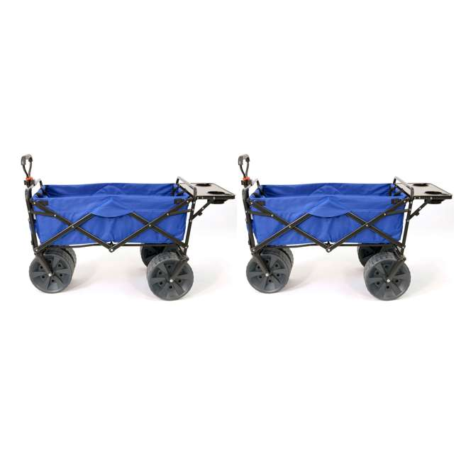 MAC-WTCB-107-BLUE-TABLE Mac Sports Collapsible Utility Wagon with Table (2 Pack)